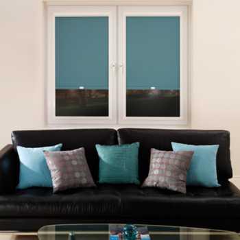 blue blackout blinds