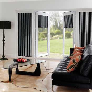 black and white perfect fit blinds
