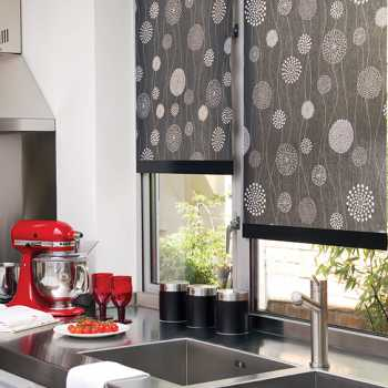 patterned roller blinds