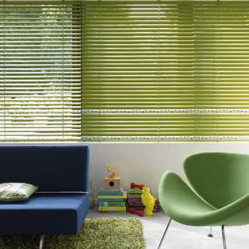 Venetian blinds green