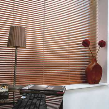 thin wooden blinds