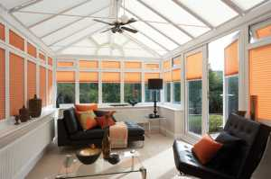 Summer Blinds in Conservatory