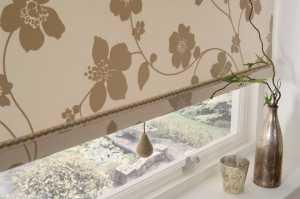 Roman blinds in bedroom