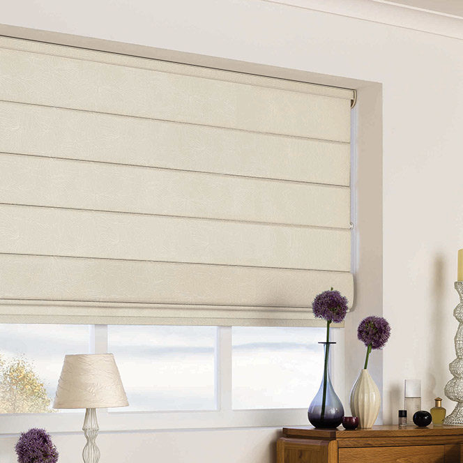 Relaxed Roman Blinds in Sheffield